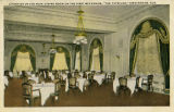 """A Portion of the Main Dining Room on the First Mezzanine, 'The Tutwiler,' Birmingham,..."