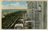 """A Portion of 'Civic Association' Café, Showing the Roof Garden and Promenade 25 Stories in..."