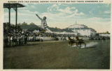 """Alabama State Fair Grounds, Showing Vulcan Statue and Race Tracks, Birmingham, Ala."""