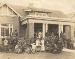 """Camp Sheridan hostess house, Montgomery, convalescent soldiers enjoying a touch of home..."