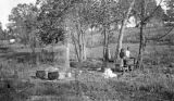 Mary Ann, an African American woman, washing clothes in Wilcox County, Alabama.