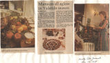 "Article: ""Mansion All Aglow for Yuletide Season,"" with newspaper photos."