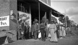 African Americans in front of a store in Wilcox County, Alabama.