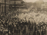 Red Cross children's parade in downtown Montgomery, Alabama, during World War I.