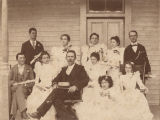 Students and teacher at the Hartselle School in Hartselle, Alabama.