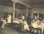 Female students sewing in a clothing class at Tuskegee Institute in Tuskegee, Alabama.