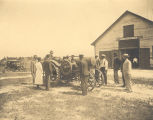 "Senior students learning how to operate a tractor (""tractioneering"") at Tuskegee..."