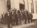 Dedication of the a Cumberland Presbyterian church building, probably in Birmingham, Alabama