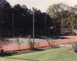 Tennis court at the Governor's Mansion in Montgomery, Alabama.