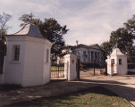 Guard houses and gate outside the Governor's Mansion in Montgomery, Alabama.