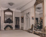 Drawing room of the Governor's Mansion in Montgomery, Alabama, decorated for the wedding of Peggy...