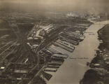 Aerial view of the State Docks in Mobile, Alabama.