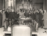 Chief Justice J. Ed Livingston swearing in cabinet members of Governor George Wallace's...