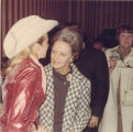 Lurleen B. Wallace with an entertainer at a gubernatorial campaign rally.
