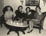 Estelle Burroughs Burns, Lurleen B. Wallace, Mozelle Smith Wallace, and Mrs. Richmond Parsons at a...