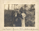 "Toccoa Cozart, Mrs. A. J. Ervin, Miss Lucy Gwathney, and Captain A. J. Ervin at ""the..."