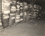 Cotton bales in a warehouse.