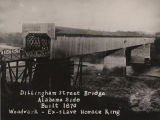 Dillingham Street covered bridge over the Chattahoochee River between Columbus, Georgia and...
