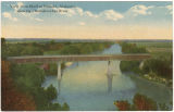 """View from Bluff at Eufaula, Alabama, showing Chattahoochee River."""