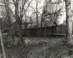 Side view of Mellon Covered Bridge over Choccolocco Creek, east of Oxford, Alabama, near Sunny Eve...