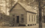 One-room schoolhouse in Clarke County, Alabama.