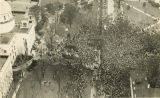 Aerial view of Bainbridge Street in front of the Capitol during the inauguration of Governor...