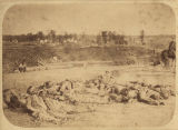Confederate soldiers killed during the Battle of Corinth, Mississippi, which took place October 3...