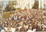 Governor Fob James taking the oath of office in front of the Capitol in Montgomery, Alabama.