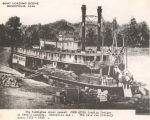 "Steamboat ""John Quill"" loading freight at Webb's Landing in Demopolis, Alabama."
