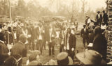 African American men preparing to lay the cornerstone of the Conecuh County Training School in...