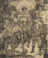 Mural by Roderick D. MacKenzie depicting Sam Dale and settlers coming into Alabama.