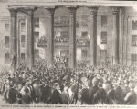 """Inauguration of Jefferson Davis, president of the Southern Confederacy, at Montgomery, Ala.,..."