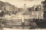 Court Square in downtown Montgomery, Alabama, looking up Market Street (now Dexter Avenue) toward...