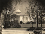Southwest view of the Capitol in Montgomery, Alabama, along Washington Avenue.