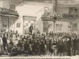 """The Confederate Senate in open session at the Capitol, Montgomery, Ala.--Howell Cobb..."