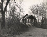 Entrance to Duck Springs Covered Bridge, 10 miles north of Gadsden, Alabama.