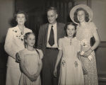 Clifford and Virginia Durr with three of their daughters, Tilla, Lucy, and Ann.