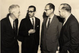Clifford Durr with civil rights leaders in Chapel Hill, North Carolina.