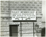 Sign advertising a campaign drive by the NAACP.
