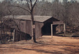 Meadows Mill Covered Bridge over Halawaka Creek near Beulah, Lee County, Alabama.