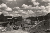 Construction of a new bridge beside the Miller Covered Bridge in Tallapoosa County, Alabama.
