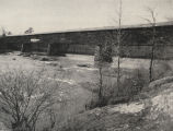 Southwestern view of the Miller Covered Bridge in Tallapoosa County, Alabama.