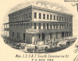 Eichold Bros. and Weiss Liquors, Cigars and Tobaccos, located at 1, 3, 5 and 7 South Commerce...