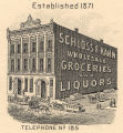 Schloss and Kohn Wholesale Grocers, located at 208 and 210 Commerce Street in Montgomery, Alabama.