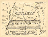 Map showing the land of the Georgia cession, Indian lands ceded to the United States in 1802.
