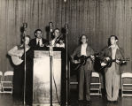 "Jim Folsom and the ""Strawberry Pickers"" at a campaign rally."