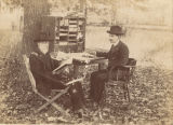 Joseph Wheeler with his secretary, Mr. Wilson, at Camp Wheeler in Huntsville, Alabama.