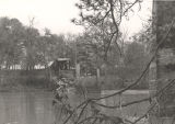 Standridge Covered Bridge soon after being destroyed by arson on November 18, 1967.