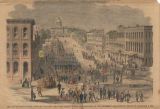 """The city of Montgomery, Alabama, showing the state house where the Congress of the Southern..."
