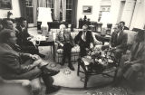 President Jimmy Carter meeting with Governor George Wallace, Senator John Sparkman, Senator Jim...